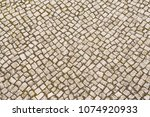stone pavement background on... | Shutterstock . vector #1074920933