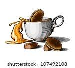 sketch cup of coffee | Shutterstock .eps vector #107492108