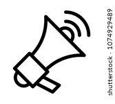 advertisement megaphone... | Shutterstock .eps vector #1074929489