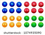 cartoon colored audio buttons ...