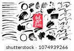 ink grunge brush strokes ... | Shutterstock .eps vector #1074939266