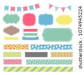 scrapbook decoration graphic... | Shutterstock .eps vector #1074945224