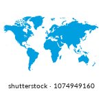 blue similar world map blank...   Shutterstock .eps vector #1074949160