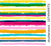 vector striped summer pattern.... | Shutterstock .eps vector #1074949973