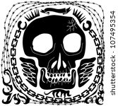 Skull Banner With Chains And...