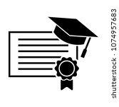 certificate icon   award symbol.... | Shutterstock .eps vector #1074957683