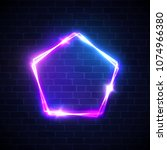neon lights background.... | Shutterstock .eps vector #1074966380