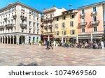 lugano  ticino  switzerland  ... | Shutterstock . vector #1074969560