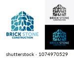brick house logo design... | Shutterstock .eps vector #1074970529