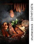 tasty meats. traditionally... | Shutterstock . vector #1074971876