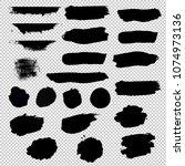 black blobs set  vector... | Shutterstock .eps vector #1074973136