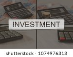 investment concept illustrated... | Shutterstock . vector #1074976313