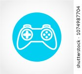 game icon isolated on white... | Shutterstock .eps vector #1074987704