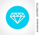 brilliant icon isolated on... | Shutterstock .eps vector #1074987710