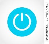 start power icon isolated on... | Shutterstock .eps vector #1074987758