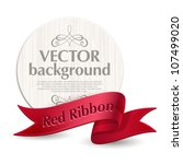 vector emblem with a red ribbon | Shutterstock .eps vector #107499020