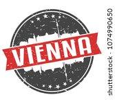 vienna austria round travel... | Shutterstock .eps vector #1074990650