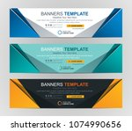 abstract web banner design... | Shutterstock .eps vector #1074990656