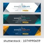 abstract web banner design... | Shutterstock .eps vector #1074990659