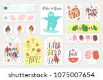 summer set of sale and gift... | Shutterstock .eps vector #1075007654