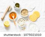 natural moisturizing ... | Shutterstock . vector #1075021010