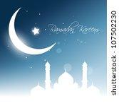beautiful glowing moon... | Shutterstock .eps vector #107502230
