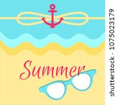 summer bright poster  colorful... | Shutterstock .eps vector #1075023179