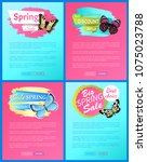 super spring sale 70 percent... | Shutterstock .eps vector #1075023788