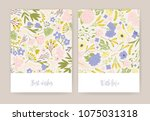 collection of beautiful... | Shutterstock .eps vector #1075031318