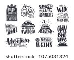 collection of written phrases ... | Shutterstock .eps vector #1075031324