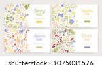 collection of web banner... | Shutterstock .eps vector #1075031576