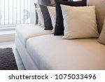 contemporary interior of living ...   Shutterstock . vector #1075033496