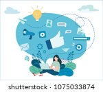 programmatic digital... | Shutterstock .eps vector #1075033874