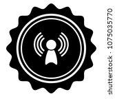 vintage emblem medal with... | Shutterstock .eps vector #1075035770