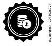 vintage emblem medal with... | Shutterstock .eps vector #1075036724