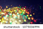 bokeh lights for party  holiday ... | Shutterstock . vector #1075036994