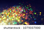 bokeh lights for party  holiday ... | Shutterstock . vector #1075037000