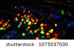 bokeh lights for party  holiday ... | Shutterstock . vector #1075037030