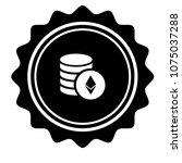 vintage emblem medal with... | Shutterstock .eps vector #1075037288