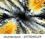 hell crack. fractal in grunge...   Shutterstock . vector #1075040129
