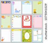 kids diary vector childish...   Shutterstock .eps vector #1075041029