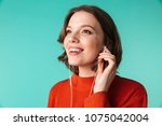 portrait of a smiling young... | Shutterstock . vector #1075042004