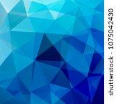 polygonal blue vector... | Shutterstock .eps vector #1075042430