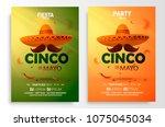 cinco de mayo poster design.... | Shutterstock .eps vector #1075045034