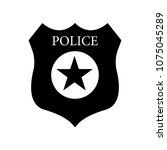 sheriff badge with star icon... | Shutterstock .eps vector #1075045289