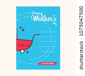 happy mother day  holiday pink... | Shutterstock .eps vector #1075047500