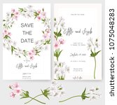 save the date card  wedding... | Shutterstock .eps vector #1075048283