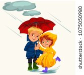 family husband and wife walking ...   Shutterstock .eps vector #1075050980