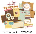 vintage design elements  18  | Shutterstock .eps vector #107505308