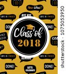 graduation class of 2018  party ... | Shutterstock .eps vector #1075053950